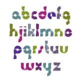 Letras pintadas a mano brillantes del vector pequeñas aisladas Imagen de archivo
