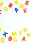 Letras plásticas Imagens de Stock
