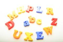 Letras plásticas del alfabeto fotografía de archivo