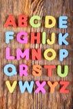 Letras plásticas del alfabeto imágenes de archivo libres de regalías
