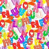 Letras plásticas del bebé del alfabeto fijadas Imagenes de archivo