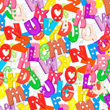 Letras plásticas do bebê do alfabeto ajustadas Imagens de Stock