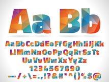 Letras polivinílicas bajas del alfabeto del estilo aisladas en blanco Imagen de archivo