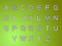 Letras preto e branco do alfabeto às letras Imagem de Stock Royalty Free
