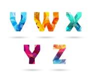 Letras principais coloridas abstratas ajustadas Fotos de Stock Royalty Free