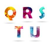 Letras principais coloridas abstratas ajustadas Imagem de Stock Royalty Free