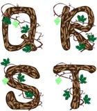 Letras Q - T. stock de ilustración