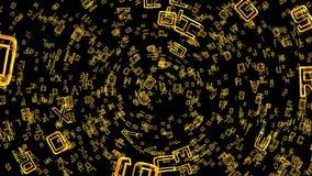 Letras que se mueven en el espacio, canal alfa libre illustration