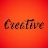 Letras retras escritas mano creativas Fotos de archivo libres de regalías