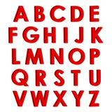 Letras rojas 3D Foto de archivo