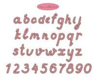 Letras rosadas de la banda de la elegancia Imagen de archivo