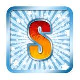 Letras S da celebração do alfabeto Fotografia de Stock Royalty Free