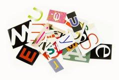 Letras Scrambled Foto de Stock Royalty Free