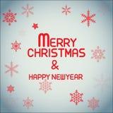 Letras simples de la Feliz Navidad Fotografía de archivo libre de regalías