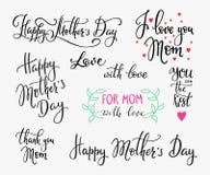 Letras simples felices del día de madres Imágenes de archivo libres de regalías