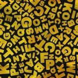 Letras. Teste padrão sem emenda. Imagens de Stock