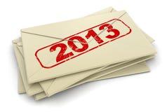 Letras 2013 (trayectoria de recortes incluida) Imágenes de archivo libres de regalías
