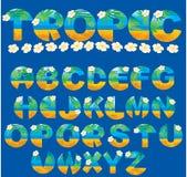 Letras tropicais Imagem de Stock Royalty Free