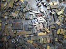 Letras Typeset velhas Imagem de Stock