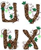 Letras U - X. stock de ilustración