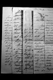 Letras velhas foto de stock royalty free