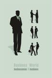 Letras verdes del hombre de negocios Imagen de archivo