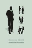 Letras verdes do homem de negócios Imagem de Stock
