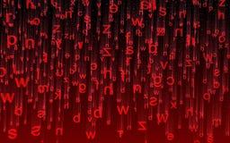 Letras vermelhas Fotografia de Stock Royalty Free