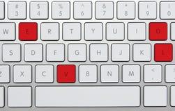 Letras vermelhas   Imagens de Stock Royalty Free