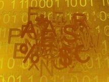 Letras virtuais alaranjadas ilustração do vetor