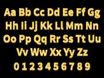 Letras volumétricos do ouro Foto de Stock Royalty Free