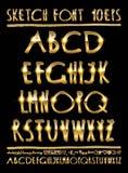 Letras volumétricos do ouro da ilustração do vetor Imagem de Stock Royalty Free