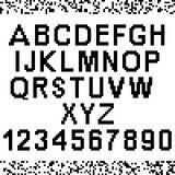 Letras y números grandes del pixel Fotos de archivo