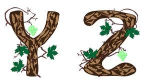 Letras Y - Z. ilustración del vector