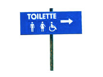 Letreiro de Toilette isolado imagem de stock