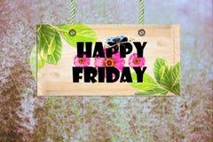 Letreiro feliz de sexta-feira Imagens de Stock