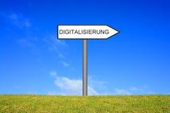Letreiro que mostra o alemão da digitalização fotografia de stock royalty free