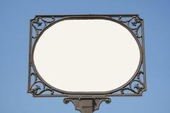 Letrero blanco Fotografía de archivo libre de regalías