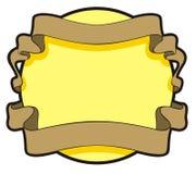 Letrero con la cinta ilustración del vector