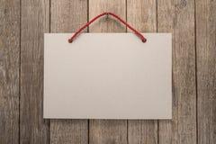 Letrero con la cuerda Fotos de archivo