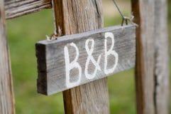 Letrero de B&B Imagenes de archivo