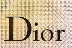 Letrero de Dior en el aeropuerto de Bangkok Fotografía de archivo