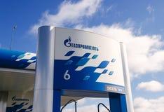 Letrero de Gazpromneft Imágenes de archivo libres de regalías