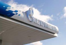 Letrero de Gazpromneft Fotos de archivo