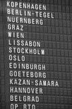 Letrero de la destinación Fotografía de archivo