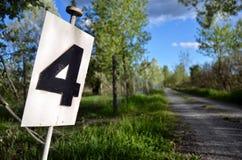 Letrero de la distancia Foto de archivo libre de regalías