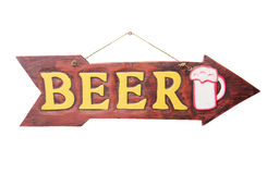 Letrero de la flecha en estilo del vintage Imagen de archivo