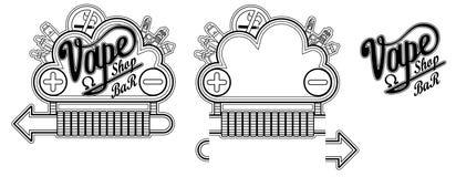 Letrero de la nube de la barra de la tienda de Vape Foto de archivo