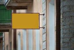 Letrero de la publicidad Fotografía de archivo libre de regalías