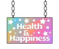 Letrero de la salud y de la felicidad Fotografía de archivo libre de regalías
